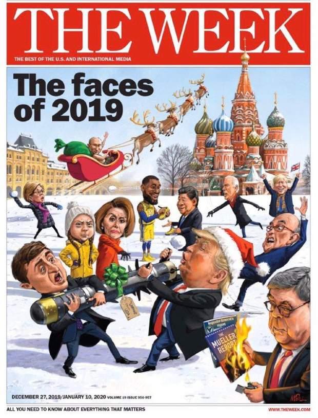 Зеленський, Трамп, Путін, 2019 рік, обличчя, американський журнал The Week