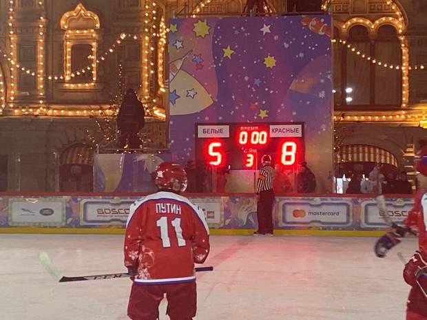 Путін, хокей, Красна площа. Москва, Росія