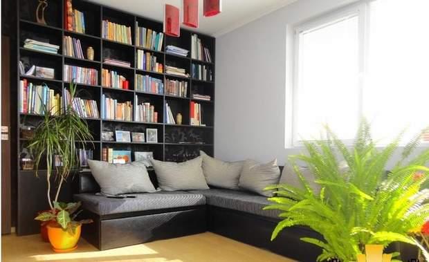 Книжкова полиця в квартирі