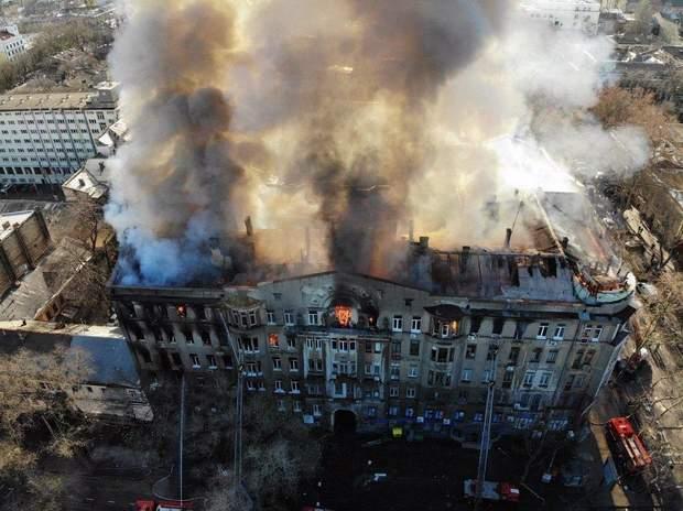 Пожежа в Одеському коледжі