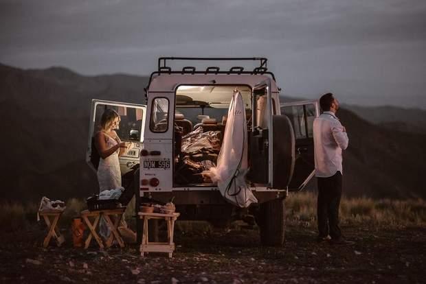 А це весільне фото зроблено в горах