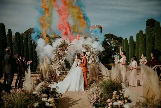 Яскраве весілля у Барселоні, Іспанія