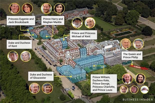 Де живуть представники королівської родини