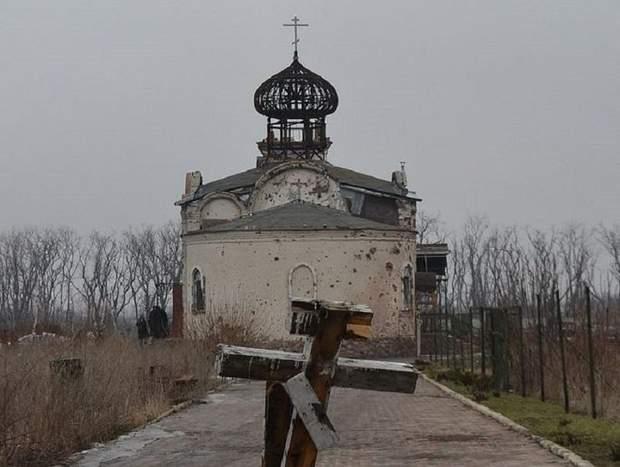 Церква Донецький аеропорт Донецьк Війна на Донбасі