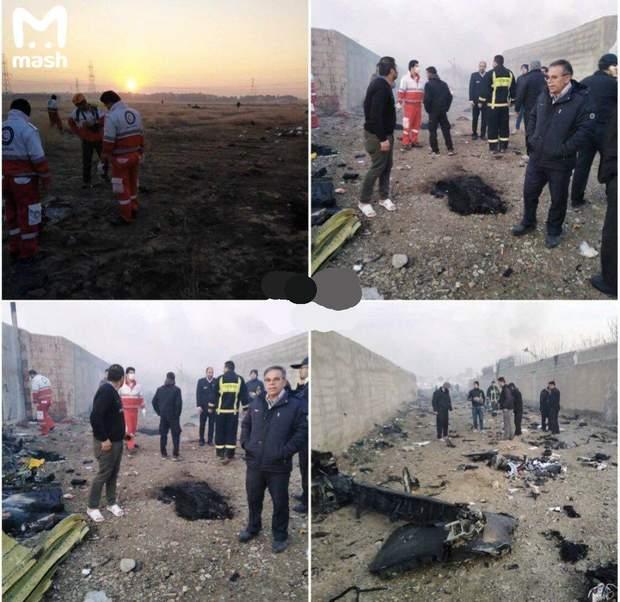 Український літак розбився в Ірані, на борту було 170 людей
