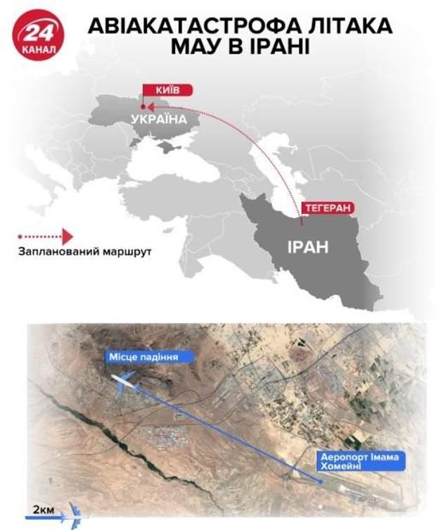карта авіакатастрофа