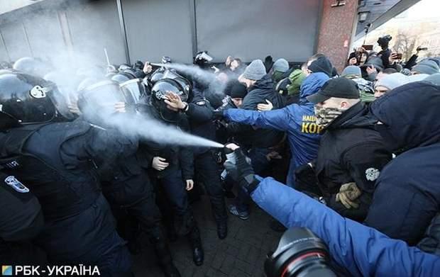 сутички під Радою журналісти і поліція