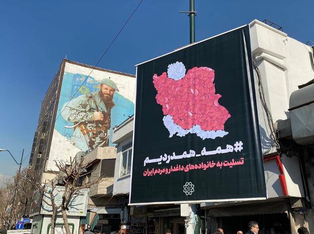 плакати в Ірані, збиття літака МАУ