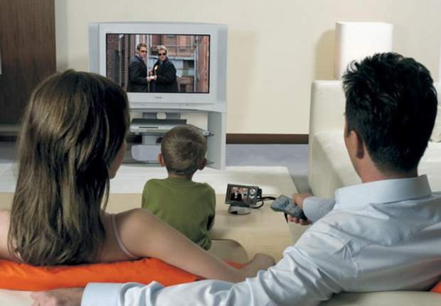 Телевізор з дітьми