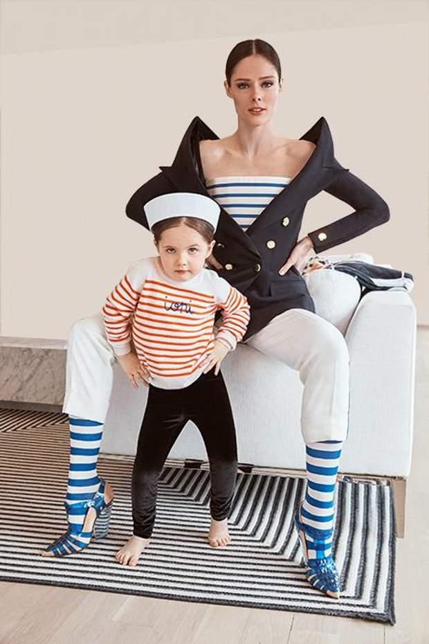 Модель Коко Роша з донькою