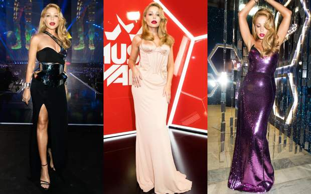 Тіна Кароль у брендових сукнях