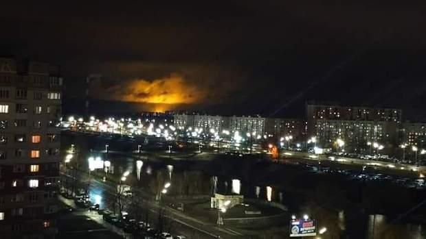 Вогонь від пожежі було видно за декілька кілометрів