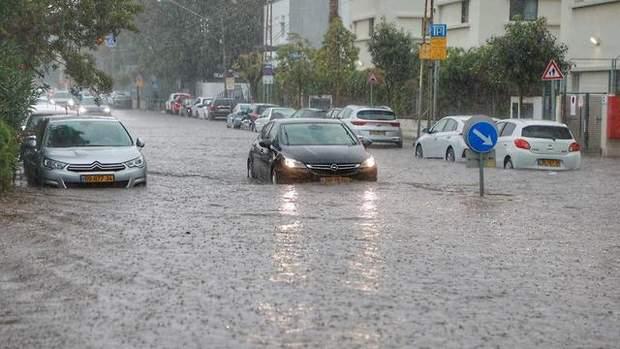 Дождь в Тель-Авиве