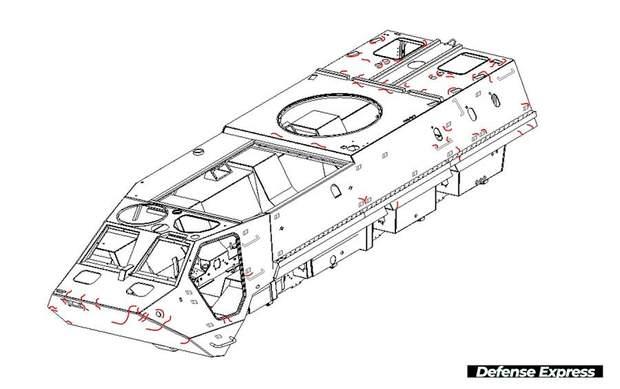 БТР-4, дираві корпуси броні