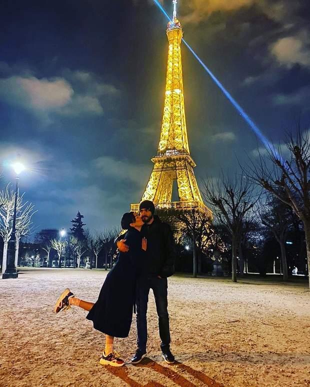 Анастасія Приходько з чоловіком у Парижі