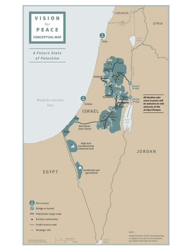сделка века карта палестины