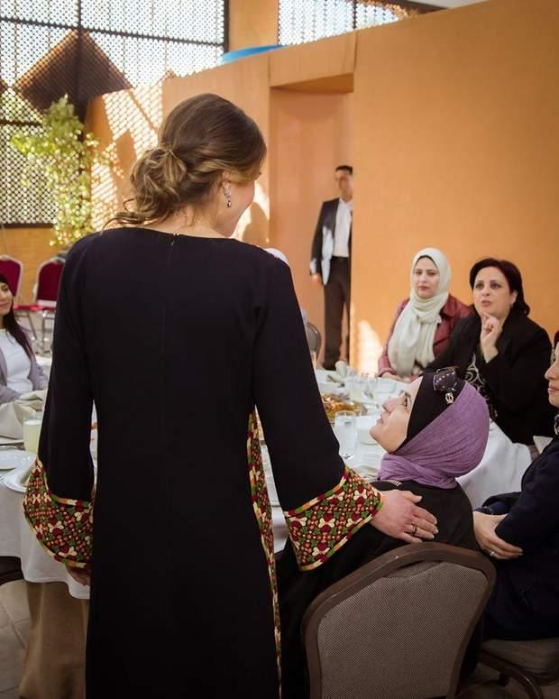 Ранія на зустрічі з йорданками