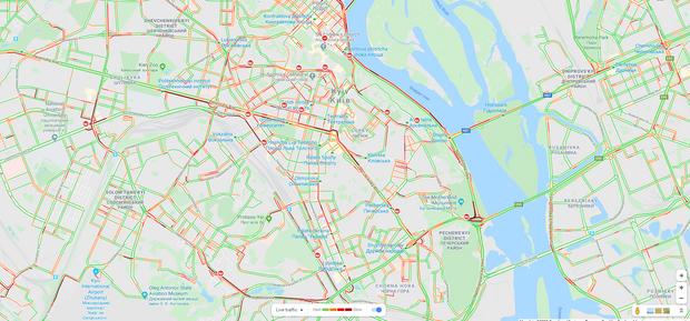 Київ, дороги, затори, ситуація на дорогах, пробки, сніг, негода