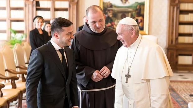 Володимир Зеленський і Папа Римський