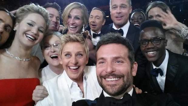 Ellen DeGeneres' Oscar Selfie , Селфі Еллен Дедженерес