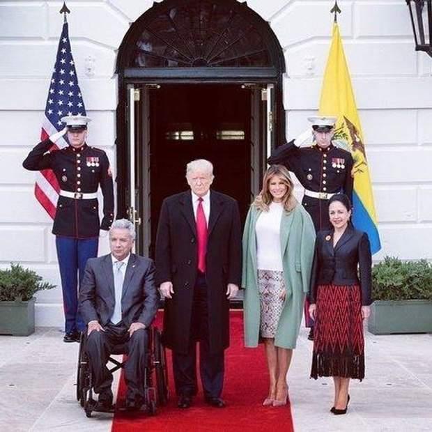 Дональд і Меланія Трамп зустрілись з президентським подружжям Еквадору