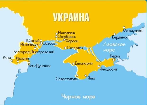 морські порти України, карта, порти Криму