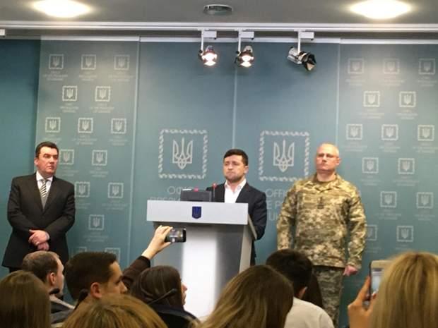 Зеленський, РНБО, брифінг, бій під Золотим, Донбас