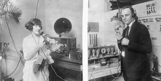 Весілля по радіо у 1922 році