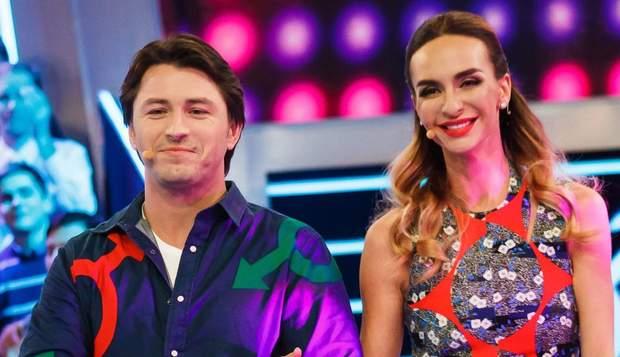 Катерина Варнава і Сергій Притула на шоу