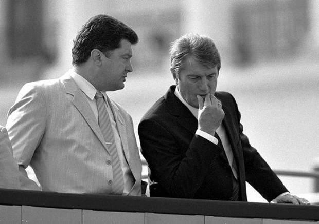 Порошенко та Ющенко