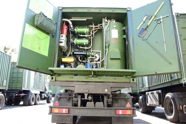 лазне-пральні комплекси для армії