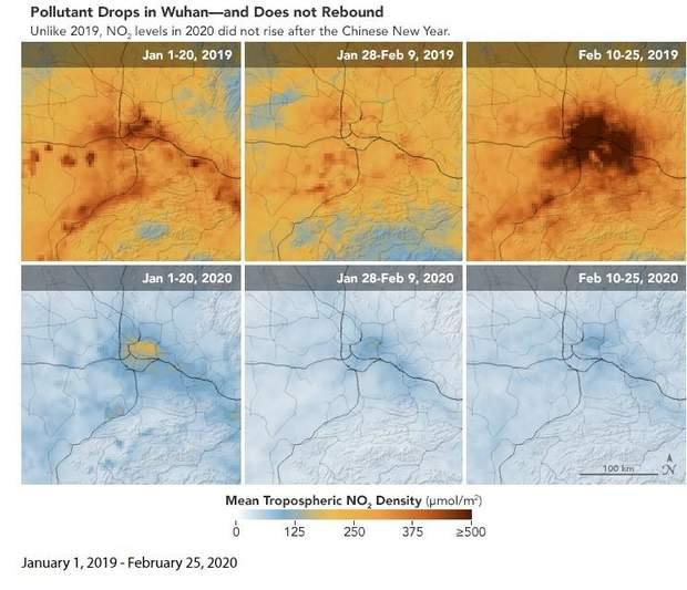 NASA зафіксувало зниження рівня забруднення повітря у Китаї