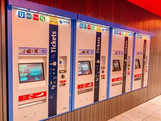 Автомати для купівлі квитків в Німеччині
