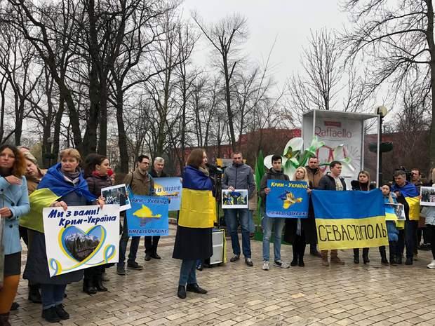 На акцію солідарності з Кримом у 2020 році вперше прийшов Олег Сенцов