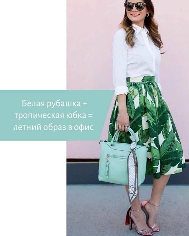Як носити одяг з тропічним принтом