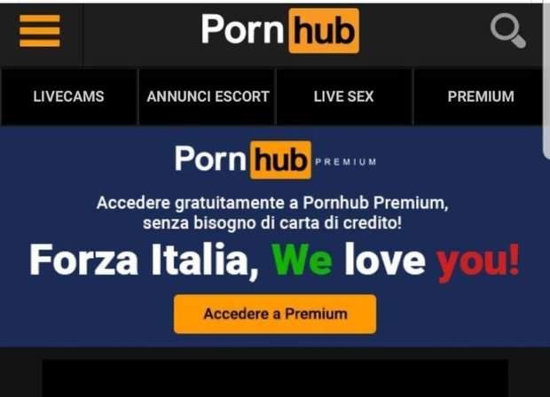 Pornhub, Італія, порно, інтернет, сайт