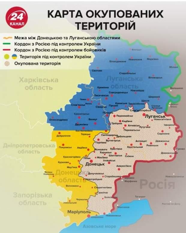 окупований донбас карта