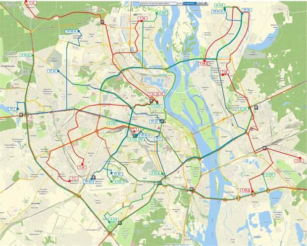 карта спецмаршрутів, Київ, карантин, громадський транспорт