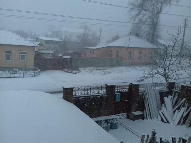 Чернігів у снігу 22 березня