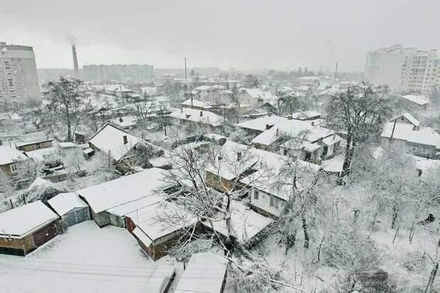 У Чернігові 22 березня випав сніг