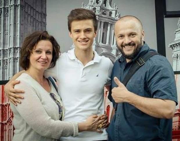 Ірина Мак з чоловіком та сином
