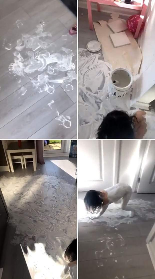 Ізоляцію проходить добре, але дитина знайшла фарбу