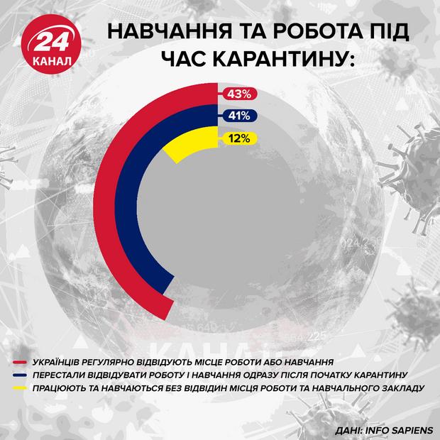 Обучение и работа во время карантина Инфографика 24 канала