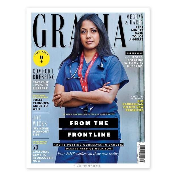Британский журнал Grazia разместил на обложках врачей, которые борются с коронавирусом