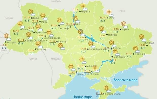 прогноз погоди на 3 квітня