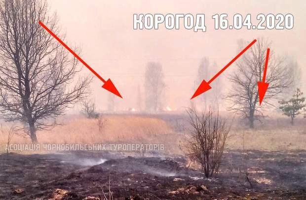 пожежа у Чорнобильській зоні, Корогод