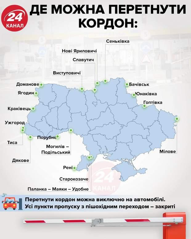 Де можна перетнути кордон в Україні