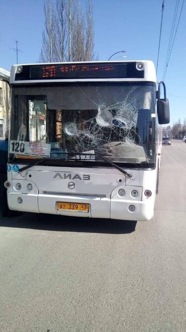 Розбитий автобус Кемерово