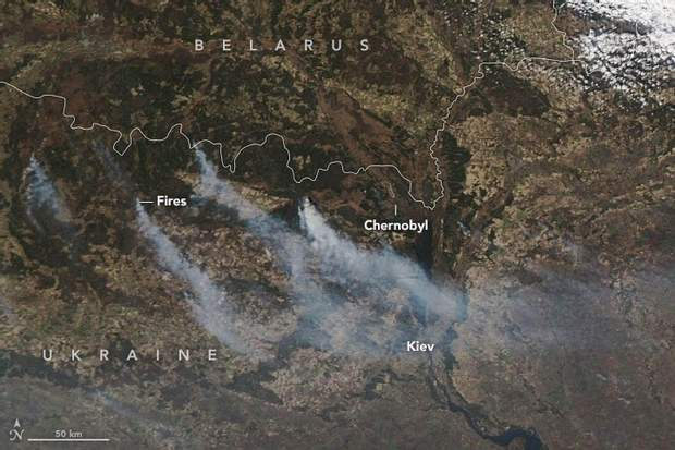 Пожежа в Чорнобилі: NASA