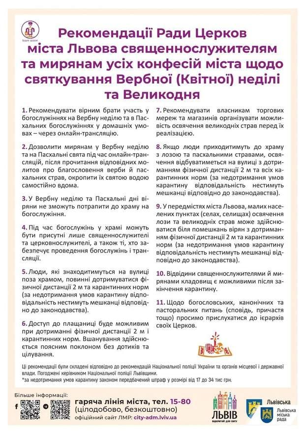 Великдень на Львівщині, рекомендації